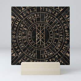Web of Wyrd The Matrix of Fate- Marble and gold Mini Art Print