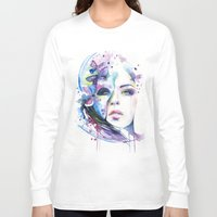 lunar Long Sleeve T-shirts featuring lunar mistery by Cora-Tiana