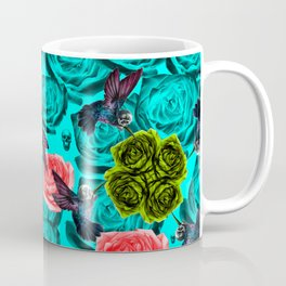 Neon Filigree Blue Coffee Mug