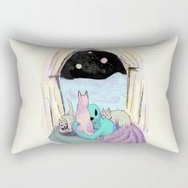 alien camping Rectangular Pillow
