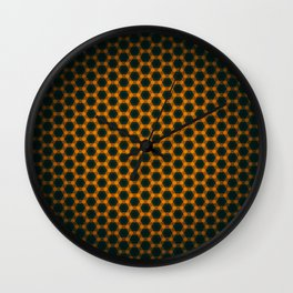 Abstract honeycombs seamless background pattern Wall Clock