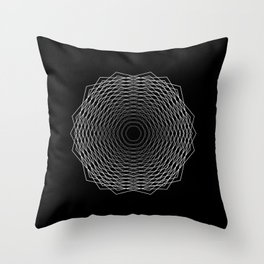 Hexagon Fade Throw Pillow