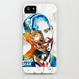 Zombie Art - The Living Dead - Halloween Fun iPhone Case