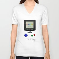 gameboy V-neck T-shirts featuring GAMEBOY COLOR by Smart Friend