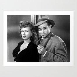 Ann Savage and Tom Neal Poster Art Print