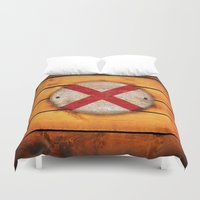 alabama Duvet Covers featuring Alabama flag. by DesignAstur