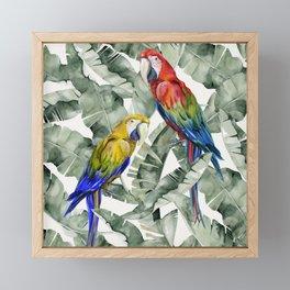 PARROTS IN THE JUNGLE Framed Mini Art Print