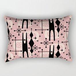Retro Atomic Mid Century Pattern 771 Dusty Rose Rectangular Pillow
