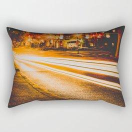 Time Lapse / Photography / Streetlights / Night Rectangular Pillow