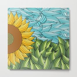 SUNNY DAY (abstract flowers) Metal Print