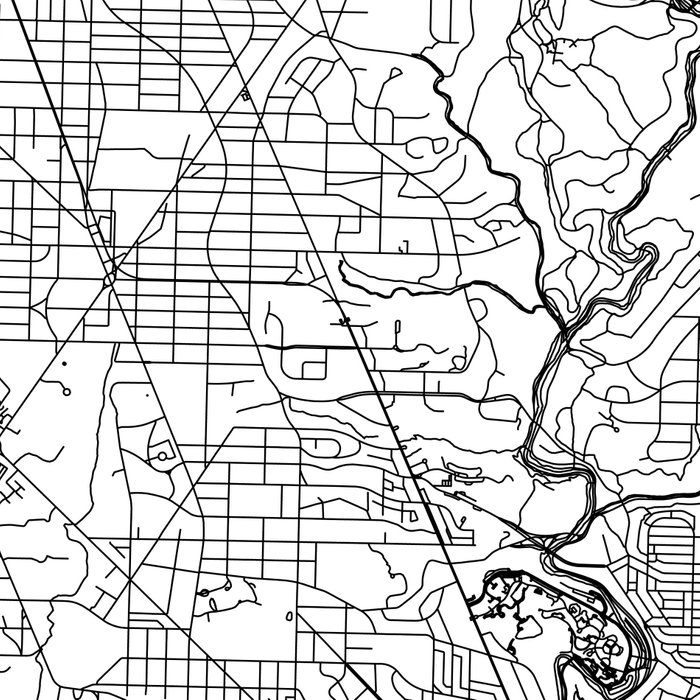Washington D.C. White Map Leggings
