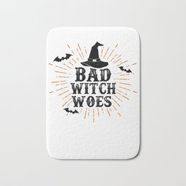 Bad Witch Woes Witch Pointy Hat Halloween Party Light Bath Mat