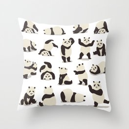 Pandas Party Throw Pillow