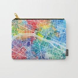 paris map watercolor Carry-All Pouch