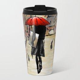 Hafanissia V1 - lady umbrella Travel Mug