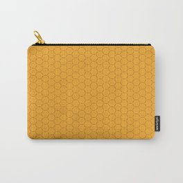 Yellow honeycombs seamless illustration background pattern Carry-All Pouch