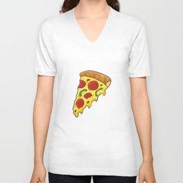 Pizza Food Love Pizza Slice Unisex V-Neck