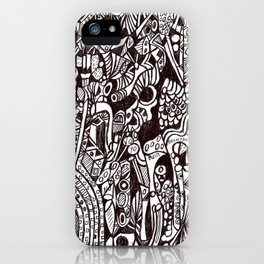 Eccentric animism (tribal pattern) iPhone Case