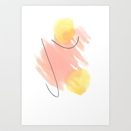 Yellow balls Art Print