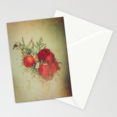 Vintage Red Roses Stationery Cards