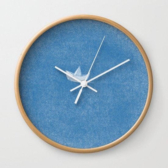 into the sea Wall Clock