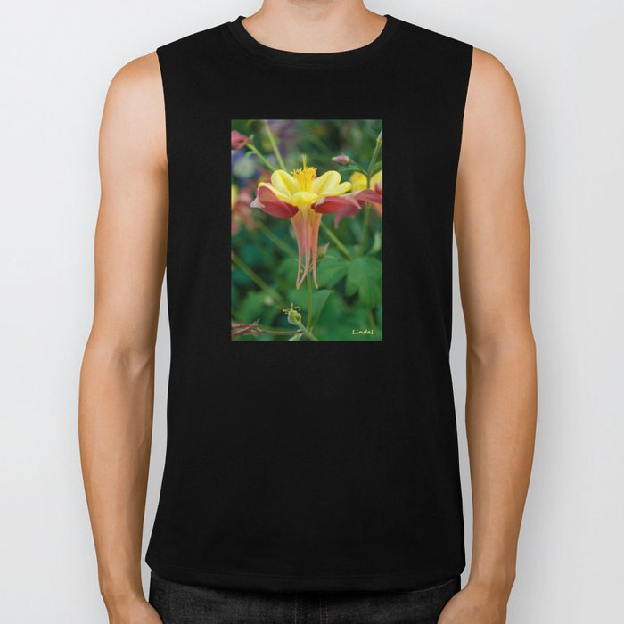 Floating Flower Biker Tank