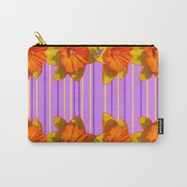 Orange-Yellow Daffodils Lilac Vision Carry-All Pouch