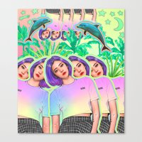 aloha Canvas Prints featuring Aloha by Sara Eshak