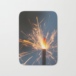 Festive Glowing Sparkler For Holidays Bath Mat