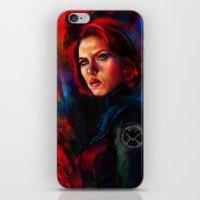 black widow iPhone & iPod Skins featuring Black Widow by Five-Oclock
