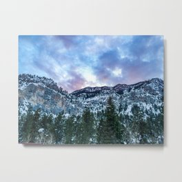 Snowcap Mountain | Sunset at Mount Charleston Mary Jane Falls Road National Forest Road Trip Sky Metal Print