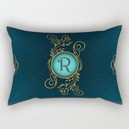 Monogram R Rectangular Pillow