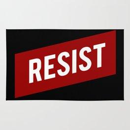 RESIST red white bold anti Trump Rug