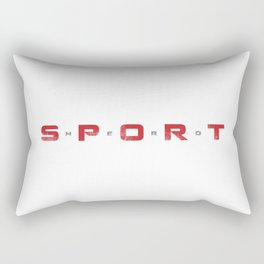 Sport Hero Dynamic Style Red Rectangular Pillow
