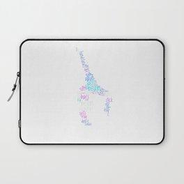 Word Cloud Gymnast Laptop Sleeve