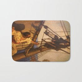 One more step Mr. Hands - N.C. Wyeth painting Bath Mat
