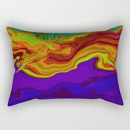 Multicolor abstract Marble Tie Dye Art Rectangular Pillow