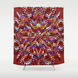 Divine Intention 3: Red Shower Curtain