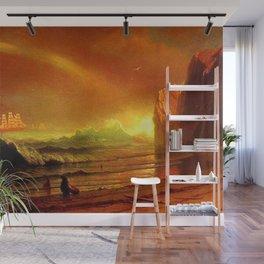 Classical Masterpiece Coastal Sunset by Albert Bierstadt Wall Mural