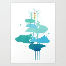 Weather Veins Art Print