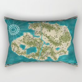 Pirate Adventure Map Rectangular Pillow