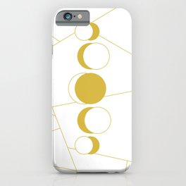 Golden moon phases iPhone Case