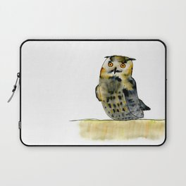 Edward the Eagle Owl Laptop Sleeve