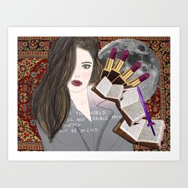 Intelligence and Beauty  Art Print