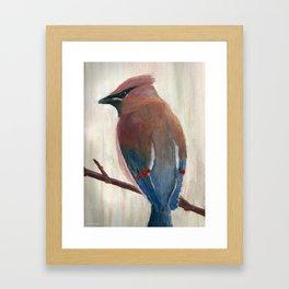 Pestvogel / Waxwing Framed Art Print