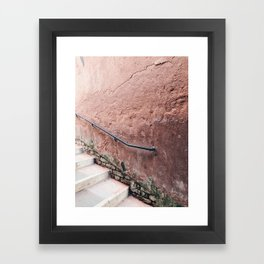PINK DUSTING / Venice, Italy Framed Art Print