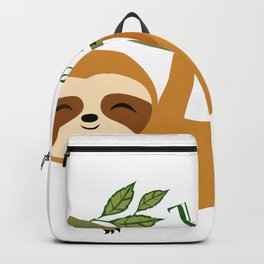 Cute Sloth, Veg out, Take it easy, Lazy Sloth Backpack