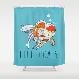 Life Goals Shower Curtain