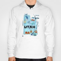 utah Hoodies featuring UTAH by Christiane Engel