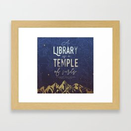 Library Temple Framed Art Print
